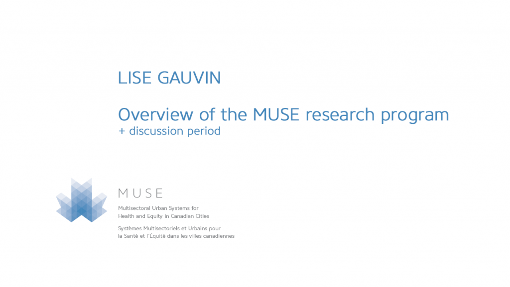 Overview of the MUSE research program and team members