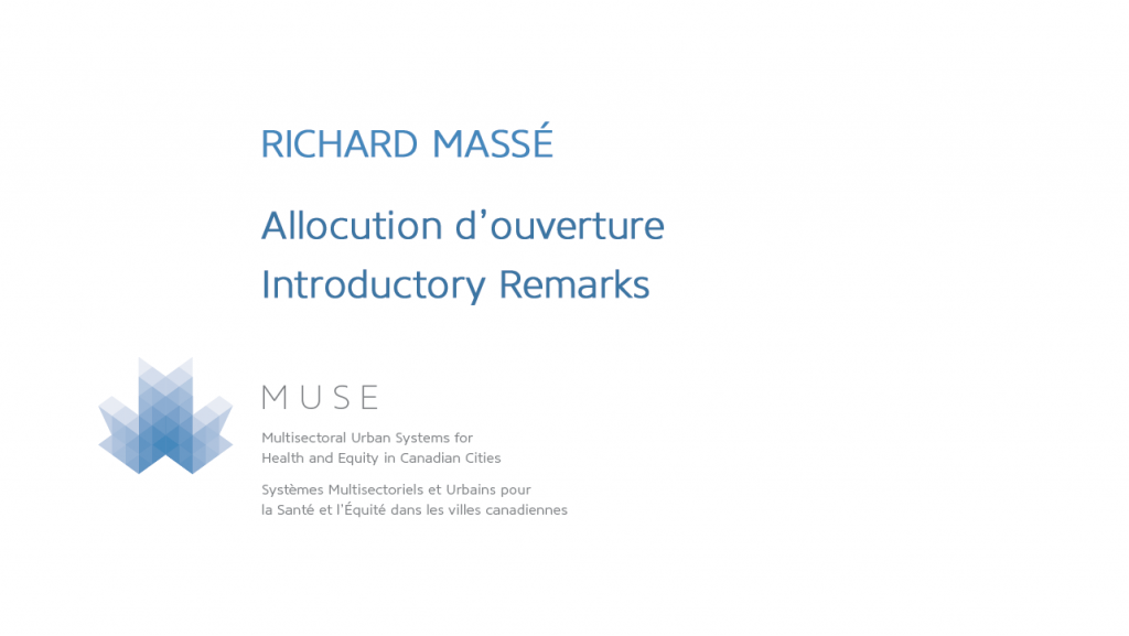 Introductory remarks by Richard Massé